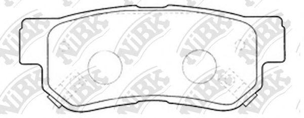 Колодки тормозные (без датчика)  арт. PN0539