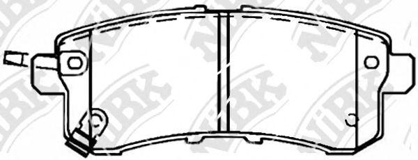 Задние тормозные колодки PN0554 NIBK PN0554