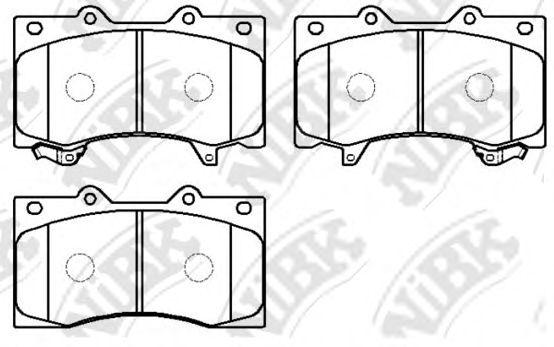 Передние тормозные колодки PN0555 NIBK PN0555