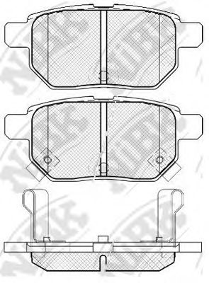 Колодки гальмівні дискові  арт. PN1519