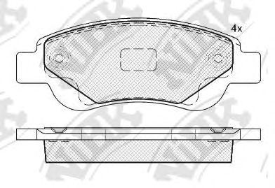 Колодки гальмівні дискові  арт. PN1841