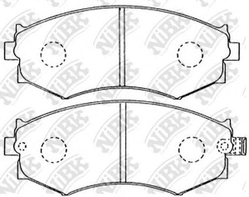 Колодки гальмівні дискові  арт. PN2176