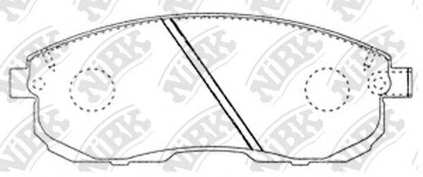 Передние тормозные колодки PN2201 NIBK PN2201