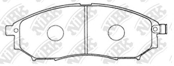 Колодки тормозные (без датчика)  арт. PN2444