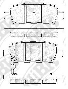 Колодки гальмівні дискові  арт. PN2466