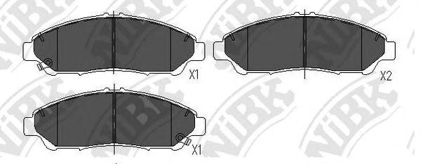 Колодки тормозные  арт. PN28001