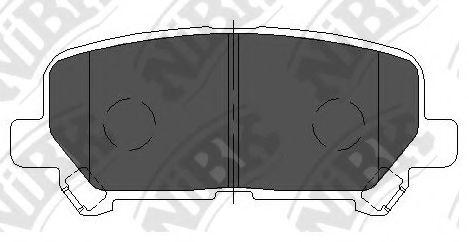 Колодки гальмівні дискові  арт. PN28002