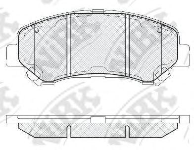 Передние тормозные колодки PN2801 NIBK PN2801