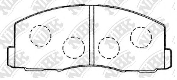 Колодки гальмівні дискові  арт. PN3158