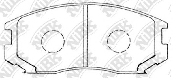 Колодки гальмівні дискові  арт. PN3285