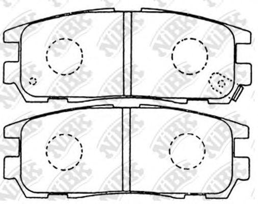 Колодки гальмівні дискові  арт. PN4299