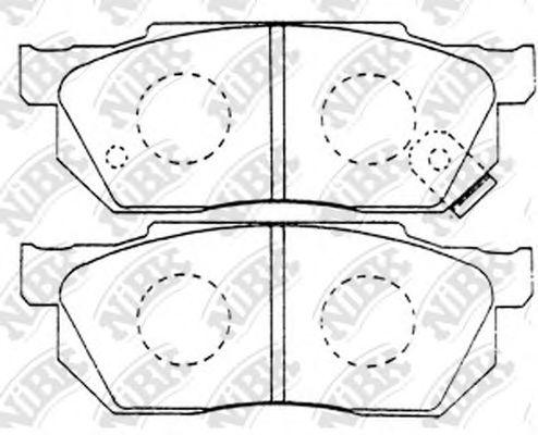 Колодки гальмівні дискові  арт. PN8263