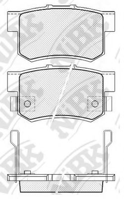 Колодки тормозные  арт. PN8397