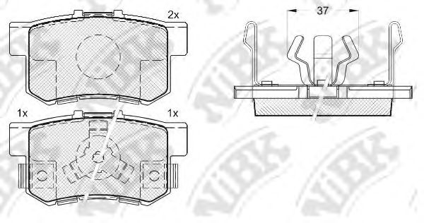 Колодки тормозные (без датчика)  арт. PN8807