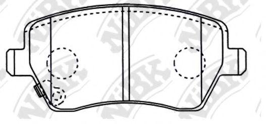 Передние тормозные колодки PN9805 NIBK PN9805