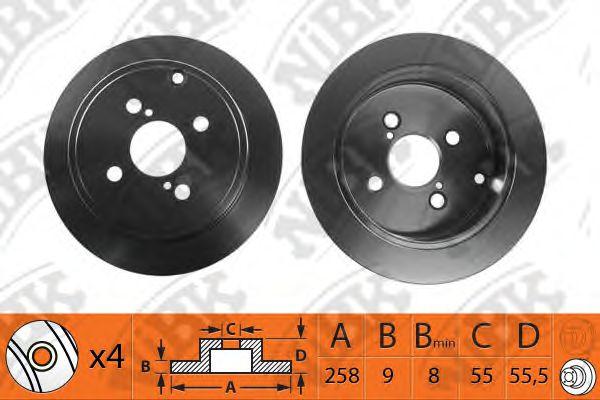 Тормозной диск NIBK RN1190