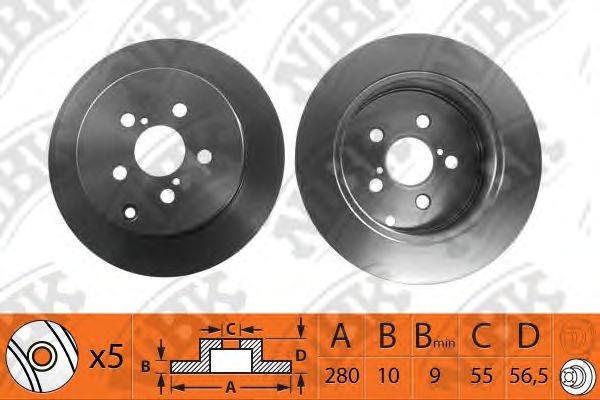 Тормозной диск NIBK RN1201