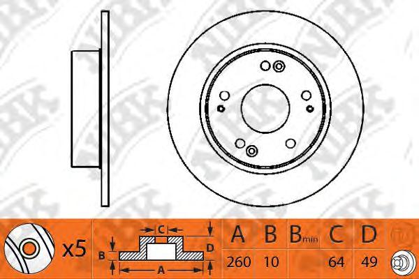 Тормозной диск NIBK RN1203