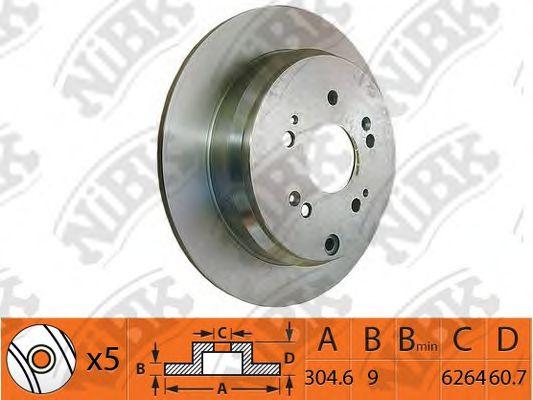 Тормозной диск NIBK RN1259