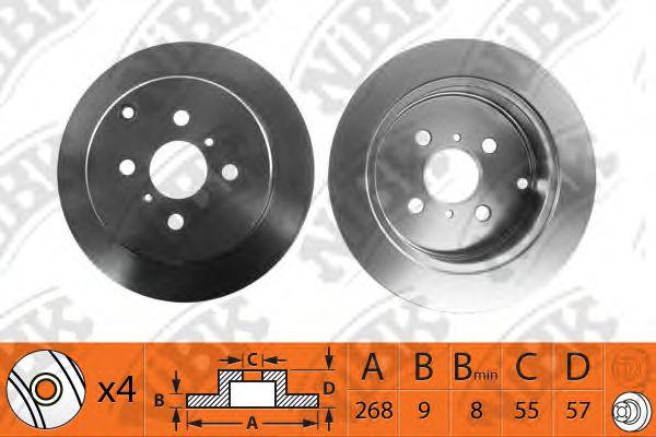 Тормозной диск NIBK RN1308