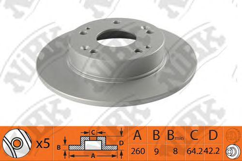 Тормозной диск NIBK RN1362