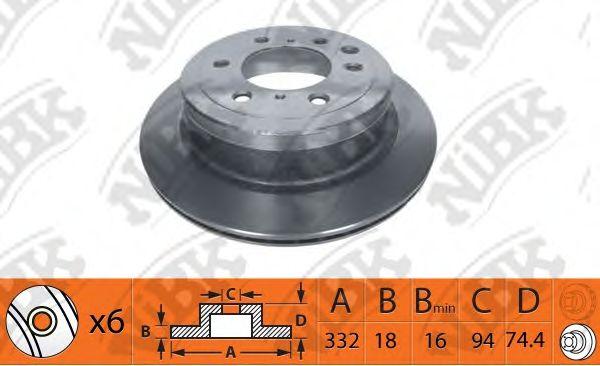 Тормозной диск NIBK RN1401