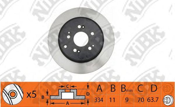 Тормозной диск NIBK RN1411