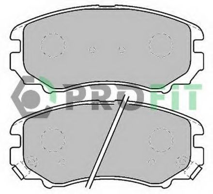 Колодки гальмівні дискові  арт. 50001733