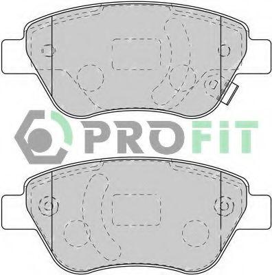 Колодки гальмівні дискові PROFIT арт. 50001920C