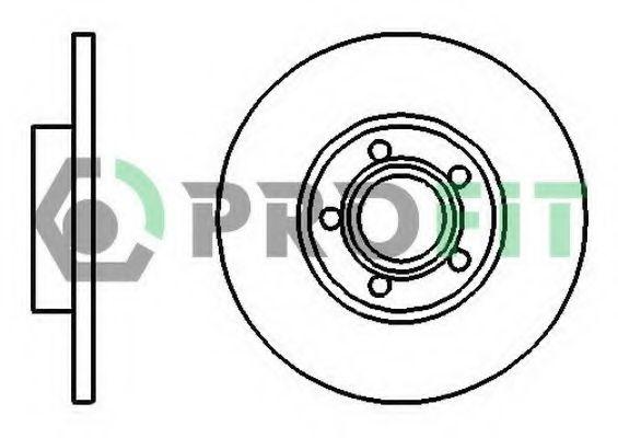 Диск гальмівний Audi 100 90- PROFIT 50100324