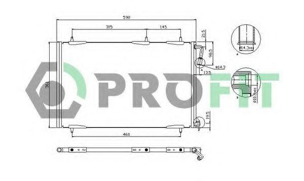 Радіатор кондиціонера PROFIT PR1907C1