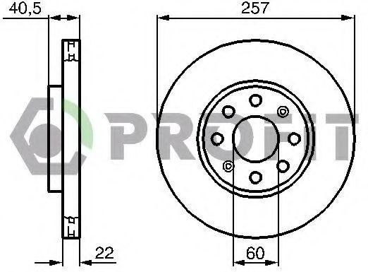 Диск гальмівний FERODO арт. 50101304