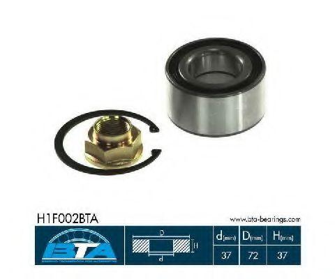 Підшипник колеса,комплект  арт. H1F002BTA