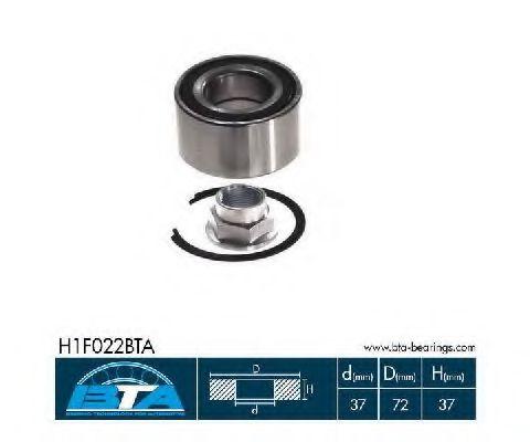 Підшипник колеса,комплект  арт. H1F022BTA