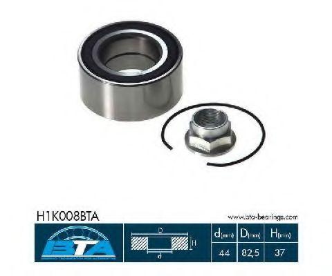 Фото - Підшипник колеса,комплект BTA - H1K008BTA