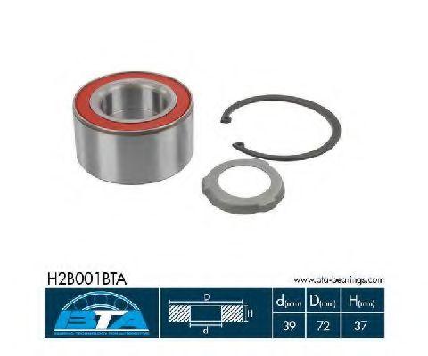 Підшипник колеса,комплект  арт. H2B001BTA