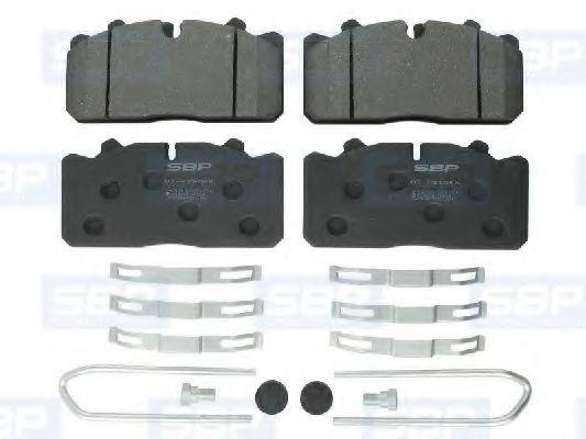 Гальмівні колодки, дискові SBP 07P29088