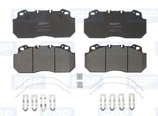 Гальмівні колодки, дискові SBP 07P29090