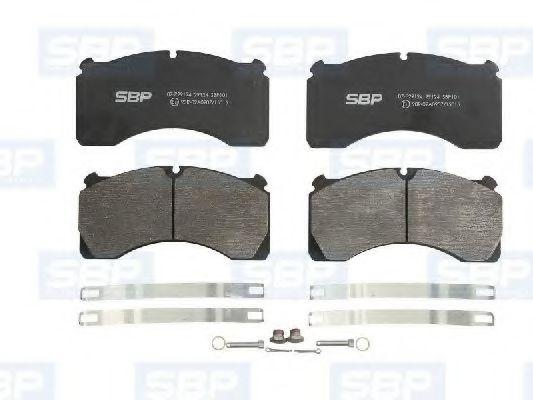 Гальмівні колодки, дискові SBP 07P29124