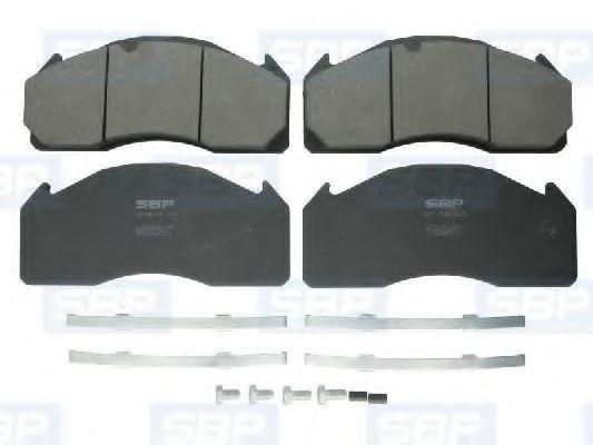 Гальмівні колодки, дискові SBP 07P29125