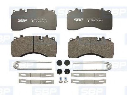 Гальмівні колодки, дискові SBP 07P29142