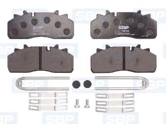 Гальмівні колодки, дискові SBP 07P29159