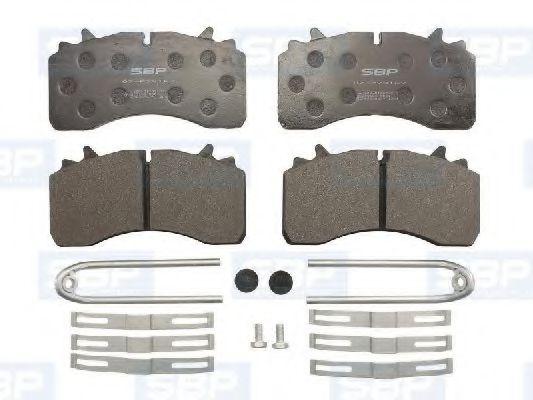 Гальмівні колодки, дискові SBP 07P29162