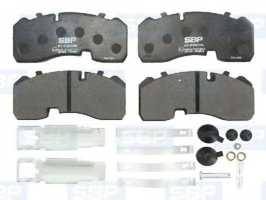 Гальмівні колодки, дискові SBP 07P29306