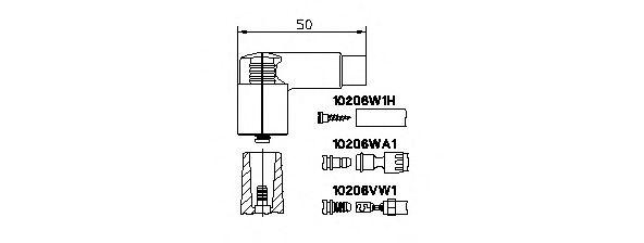 Вилка, катушка зажигания  арт. 10206VW1