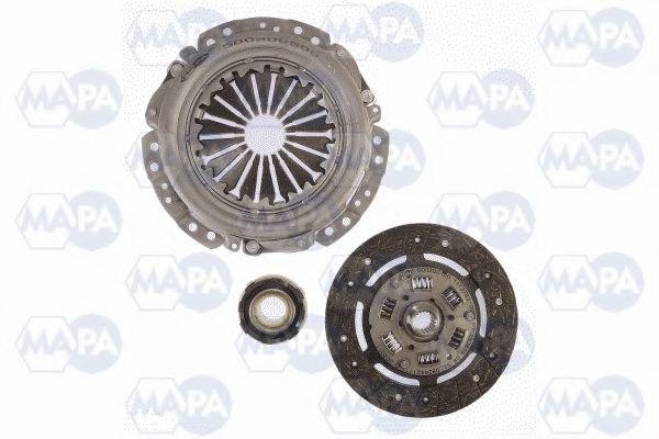 Сцепление в сборе Комплект сцепления Fiat 125/132 1.6 (d=200mm) MAPA арт. 001200400