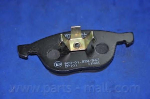 Колодки тормозные дисковые (пр-во PARTS-MALL)                                                         арт. PKHE06
