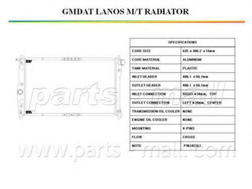 PXNDC-007   PMC  -  Радіатор охолодження PARTSMALL PXNDC007