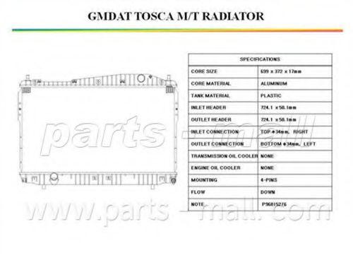 PXNDC-031   PMC  -  Радіатор охолодження PARTSMALL PXNDC031