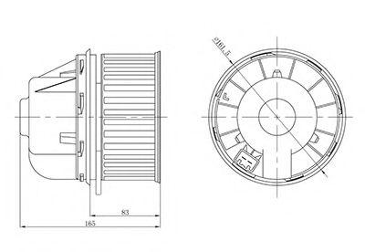 Электровентилятор отопителя Focus 1.4/1.6/1.8/2.0 (05-) МКПП (LFh 1076) Luzar в интернет магазине www.partlider.com